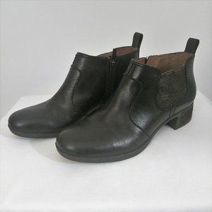Dansko Lola Ankle Boots Black Leather Sz 7.5/8
